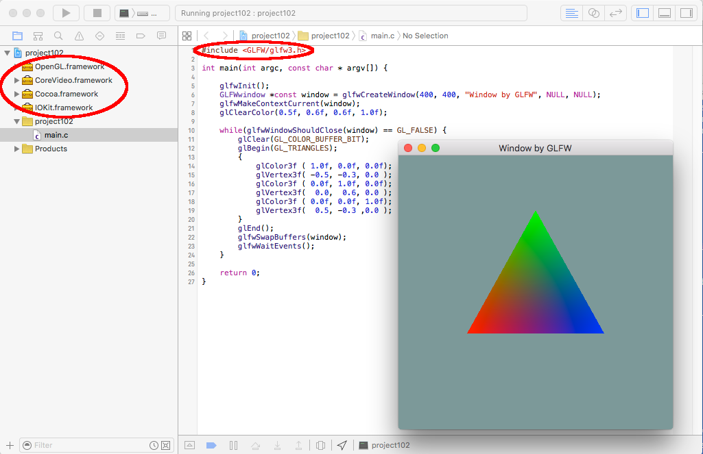 GLFW and Xcode | Spinor Lab